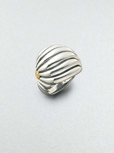 Sculpted Cable Ring