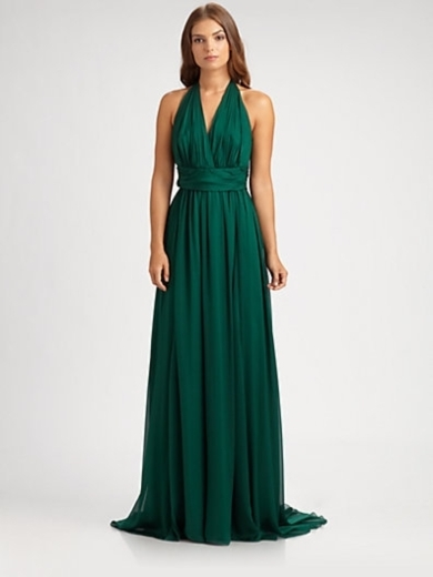 Silk Halter Gown