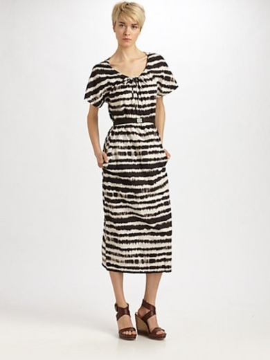 Stecca Printed Drawstring Dress