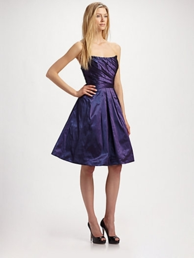 Taffeta Strapless Dress