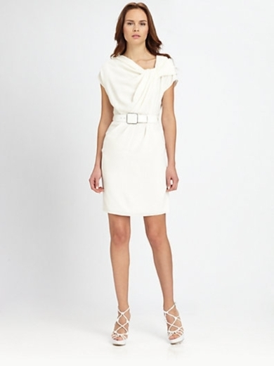 Twist-Neckline Dress