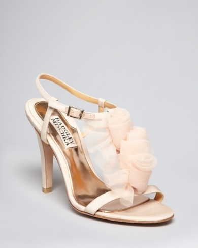 Badgley Mischka Open Toe Evening Sandals - Cissy High Heel