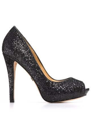 Badgley Mischka Peep Toe Platform Evening Pumps - Humbie II