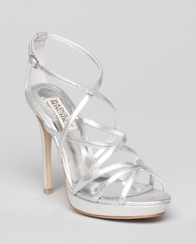 Badgley Mischka Platform Evening Sandals - Adonis II High Heel