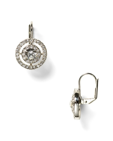 Carolee LUX Crystal Pav Stone Drop Earrings