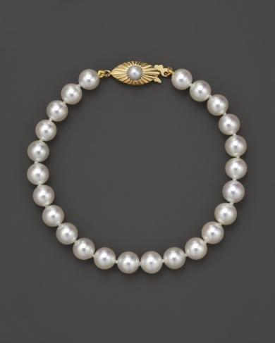 Cultured Pearl Bracelet, 6.5-7 mm