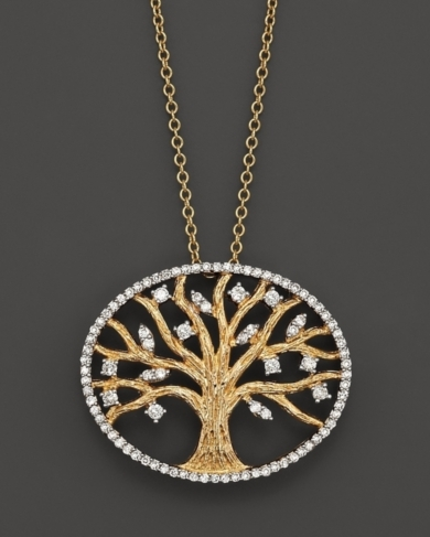 Diamond Pendant Set In 14K Yellow Gold, 0.40 ct.