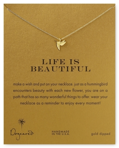 Dogeared Life is Beautiful Necklace, 18