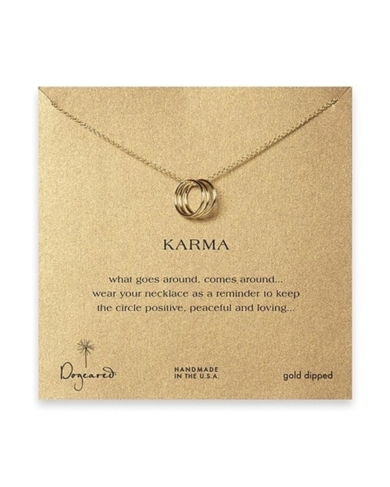 Dogeared Tri Karma Gold Necklace, 18