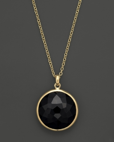 Ippolita 18K Gold Lollipop Pendant Necklace in Black Onyx, 16