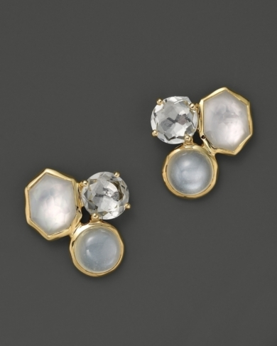 Ippolita 18K Gold Rock Candy 3-Stone Studs in Flirt