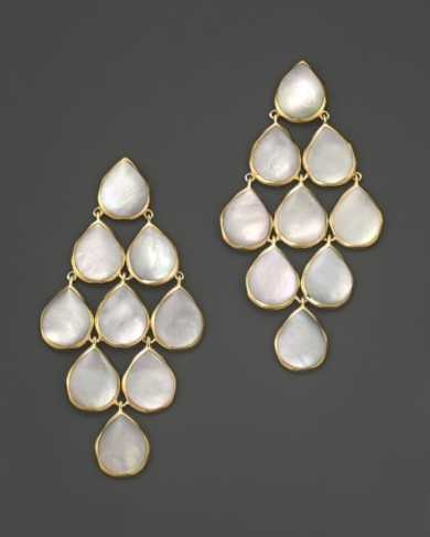 Ippolita 18K Polished Rock Candy Cascade Earrings in Mother-Of-Pearl