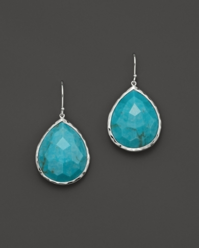 Ippolita Large Single Teardrop Earring in Turquoise