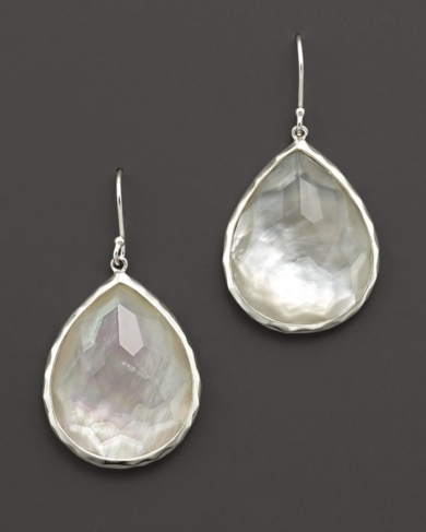 Ippolita Large Wonderland Teardrop in Mother-of-Pearl Earrings