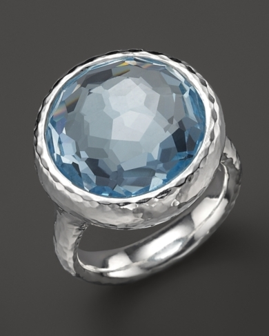 Ippolita Sterling Silver Rock Candy Lollipop Ring in Blue Topaz