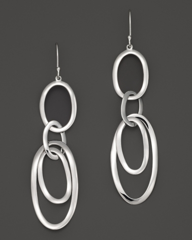 Ippolita Sterling Silver Scultura Multi Oval Link Earrings
