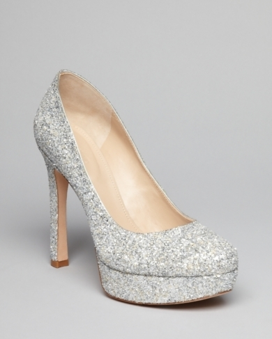 Joan & David Glitter Platform Pumps - Quella High Heel