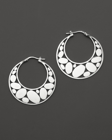 John Hardy Kali Silver Medium Hoop Earrings
