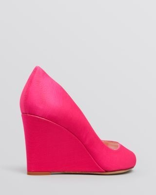 kate spade new york Peep Toe Wedge Evening Pumps - Radiant Hot Pink