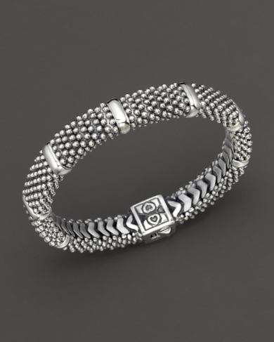 Lagos Sterling Silver Caviar Luxe Beaded Rope Bracelet