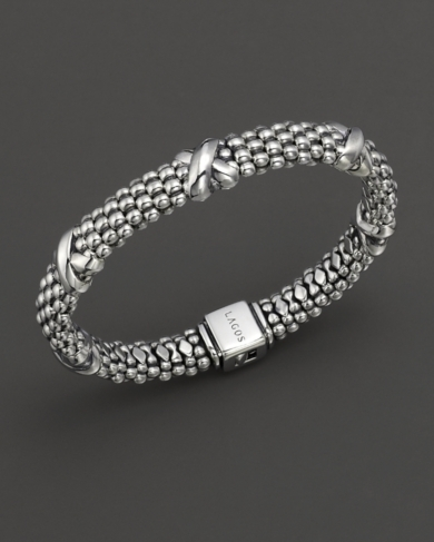 Lagos Sterling Silver Oval Rope Bracelet, 9mm