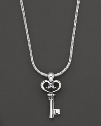 Lagos Sterling Silver Small Key Pendant Necklace, 16 L