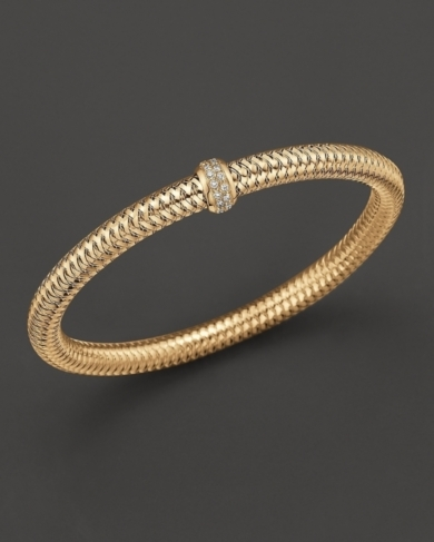 Roberto Coin Yellow Gold Stretch Primavera Bracelet