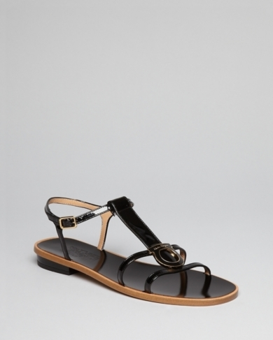 Salvatore Ferragamo Flat Sandals - Stephanie Gancio Enameled