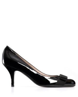 Salvatore Ferragamo Pumps - Carla Bow Kitten Heel