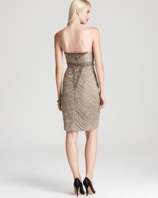 Sue Wong Strapless Dress - Beaded