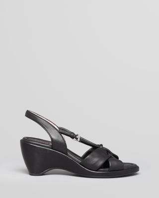 Taryn Rose Wedge Sandals - Margaux Wishbone