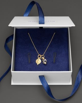 Temple St. Clair 18K Yellow Gold Angel and Amulet Pendant Box Set