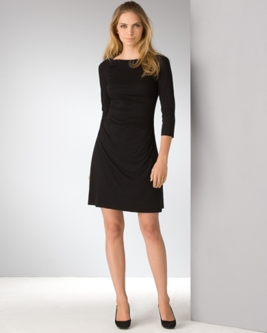 Three Dots Jersey Boatneck Dress