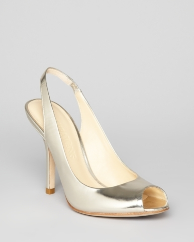 Vera Wang Peep Toe Sling Back Pumps - Chereese