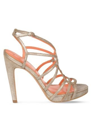 Via Spiga Platform Evening Sandals - Promise High Heel