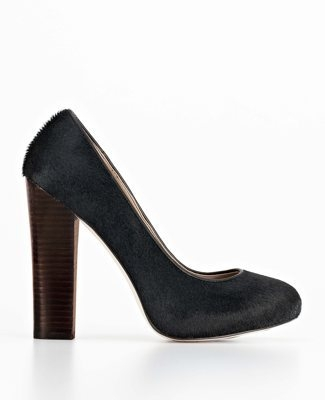 Delaney Haircalf Stacked Platform Pumps