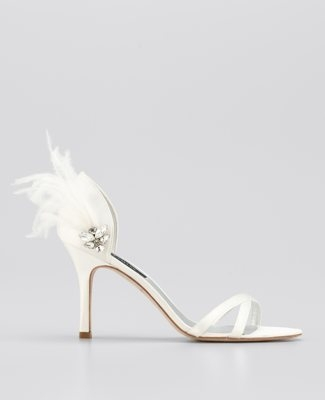Feathered Strappy Sandals