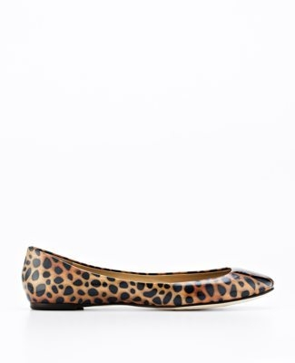 Perfect Animal Print Patent Leather Flats