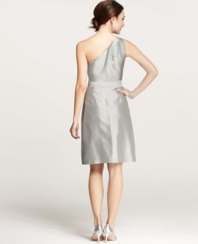 Silk Dupioni One Shoulder Dress