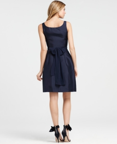 Silk Dupioni Scoop Neck Bridesmaid Dress