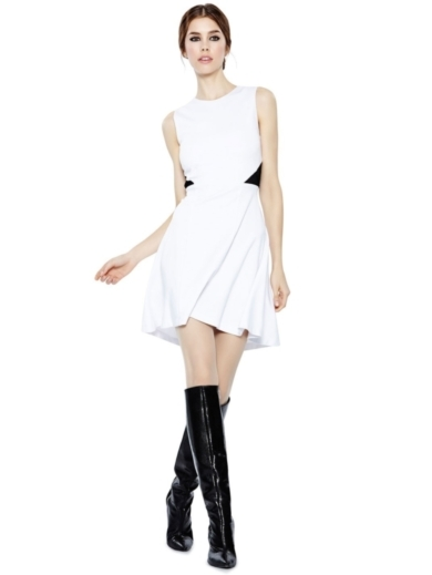 EVAN FIT AND FLARE DRESS