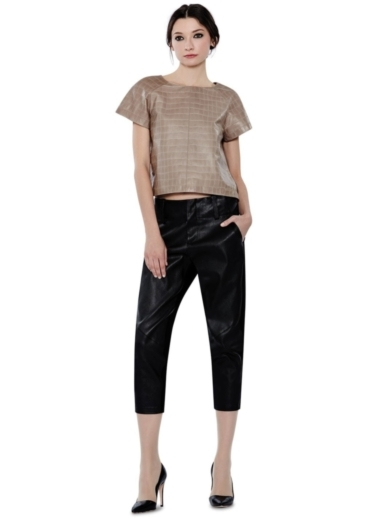 LEATHER COMBO ANDERS PANT