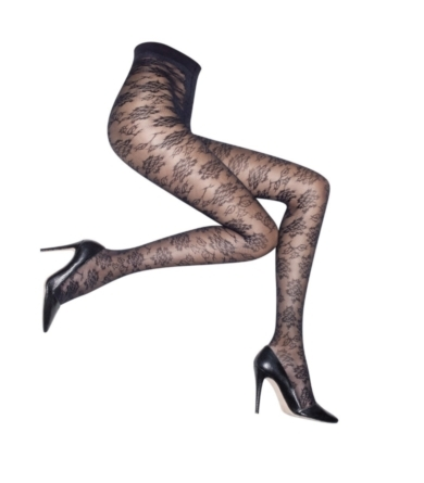 Semi Sheer Hoisery - LACE TIGHTS
