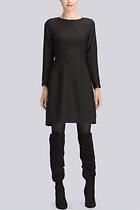 Textured Cloque Long Sleeve Dress