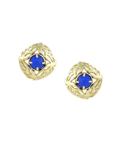 April Stud Earrings in Cobalt
