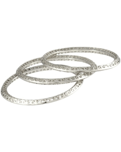 Bethany Bangle Bracelets in Silver