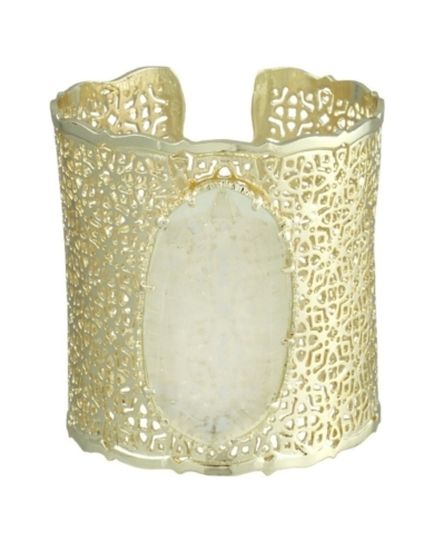 Brodie Cuff Bracelet in Clear Crystal