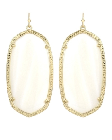 Danielle Earrings in White