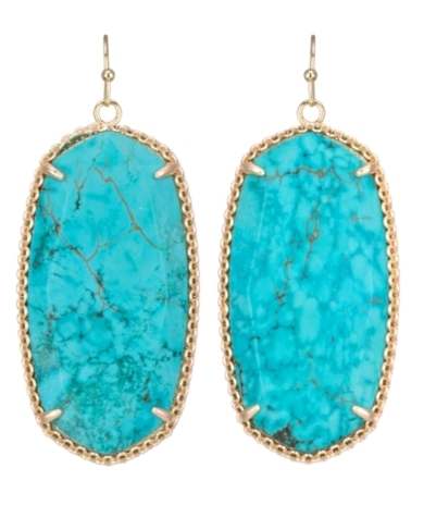 Deily Statement Earrings in Turquiose