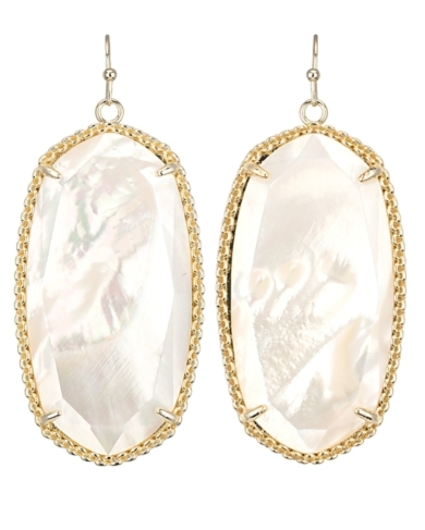 Deily Statement Earrings in White Pearl